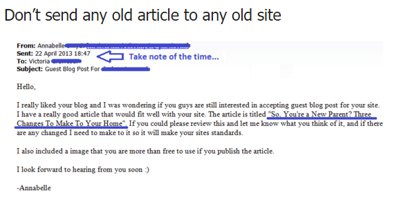 Don't Send Old Articles