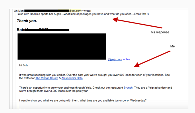 Email Marketing Tips from Yelp