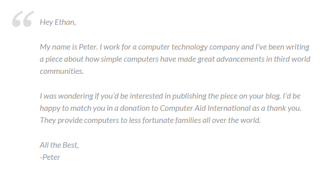 Peter Attia - Outreach Example 2