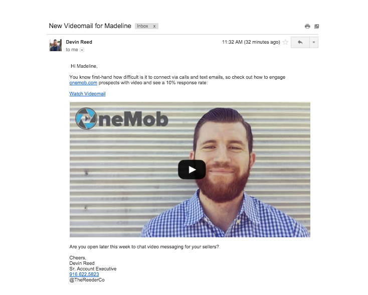 Video Email Outreach