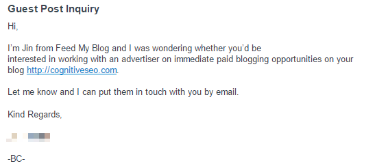 Be Clear About Your Intentions. Shady Tactics Don't Work with Professionals - Outreach Emails