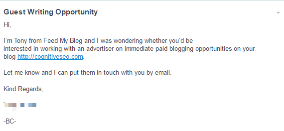 Be Clear About Your Intentions. Shady Tactics Don't Work with Professionals - Poor Outreach Emails