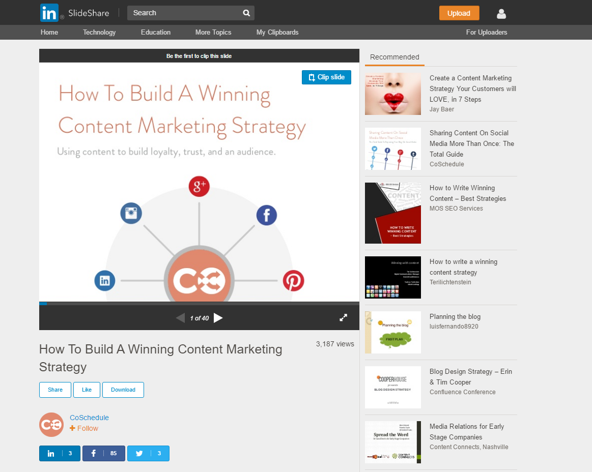 How To Develop A Winning Social Media Content Strategy - Slideshare