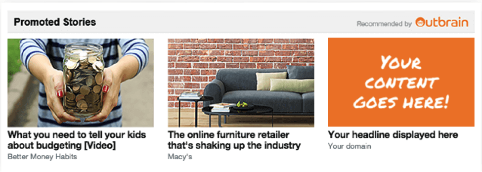 Outbrain promoted content