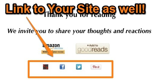Self-publish Kindle Books and Link to Your Site