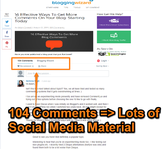Tag & Quote the People that Comment on Your site on Social Media