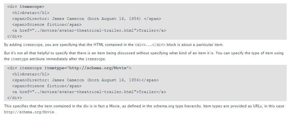 Use Schema Microdata to Facilitate Website Indexing