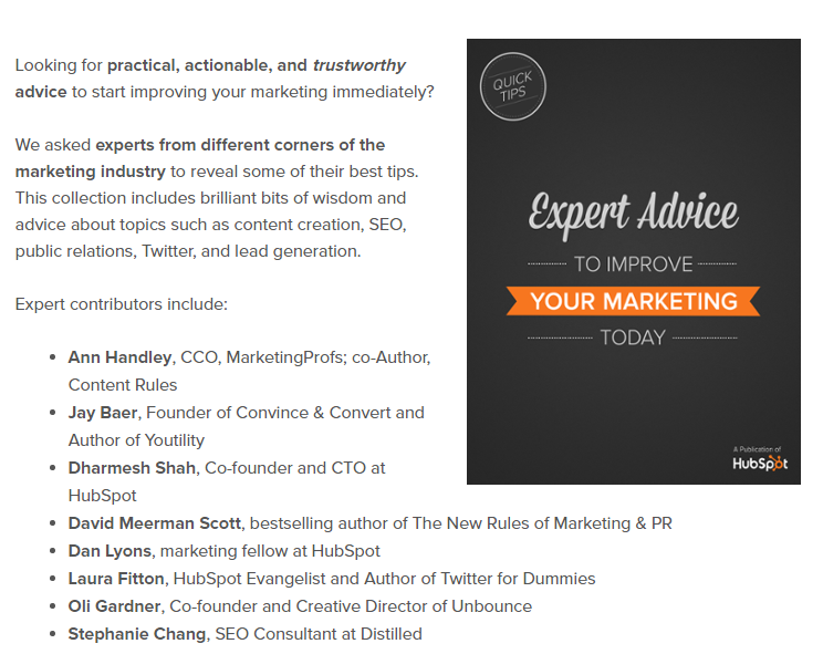 Expert Advice Ebook