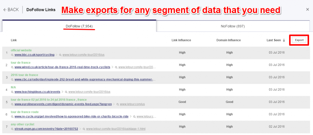 exports cognitiveseo explorer
