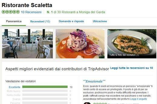 Fake reviews Scaletta