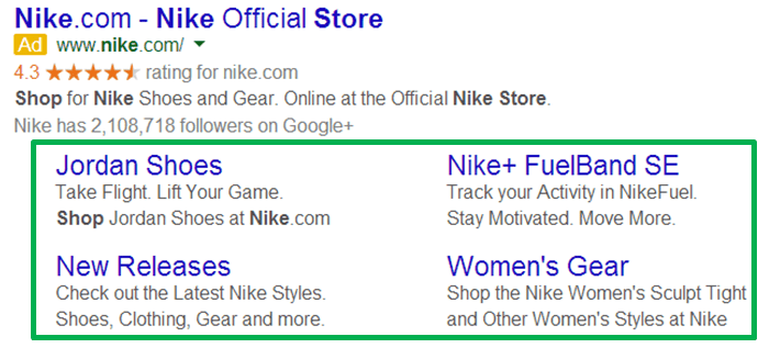 Adwords-extensions-sitelinks-nike