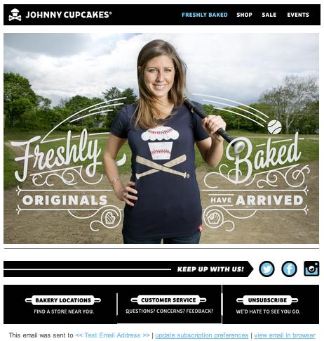 Campanha de segmentação de Johnny Cupcakes