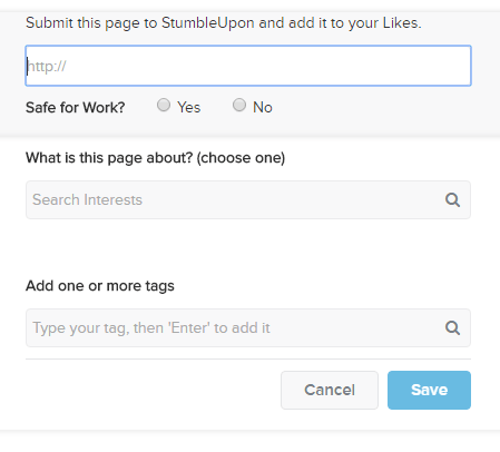 Stumbleupon add link