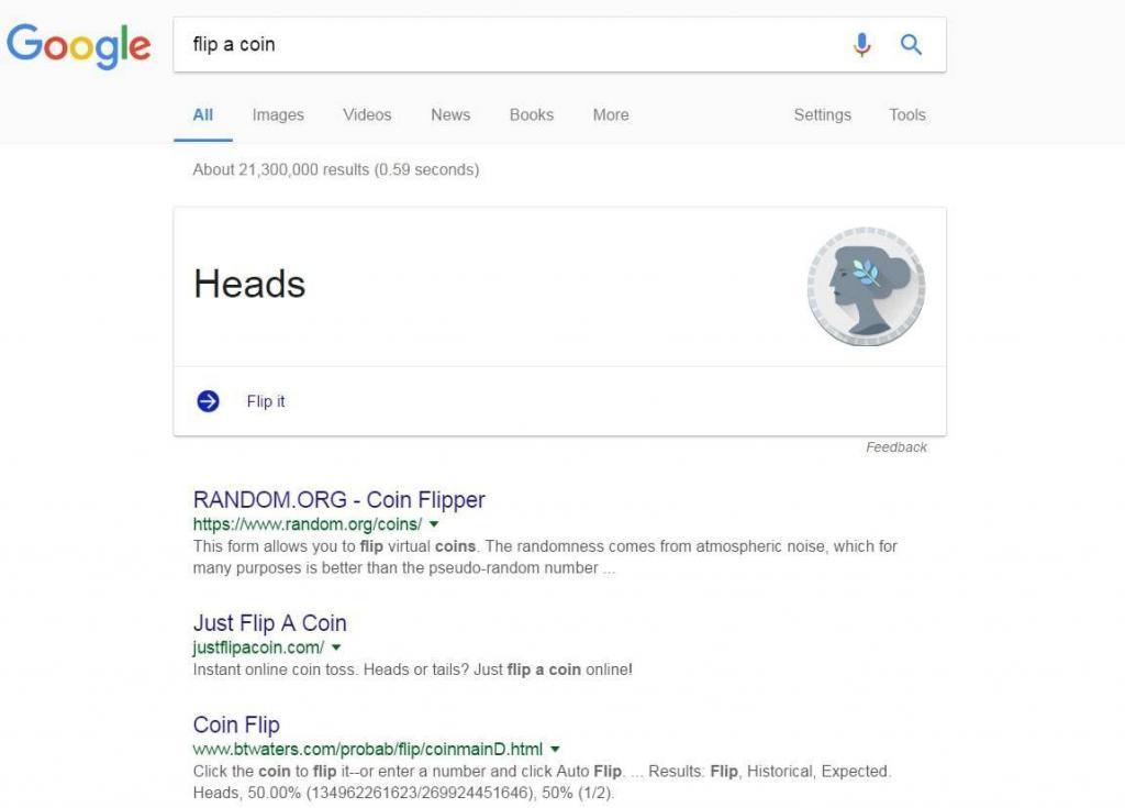 4. Flip a coin