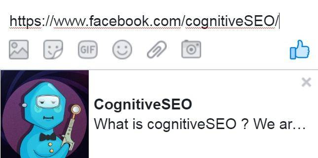 Facebook cognitiveSEO share