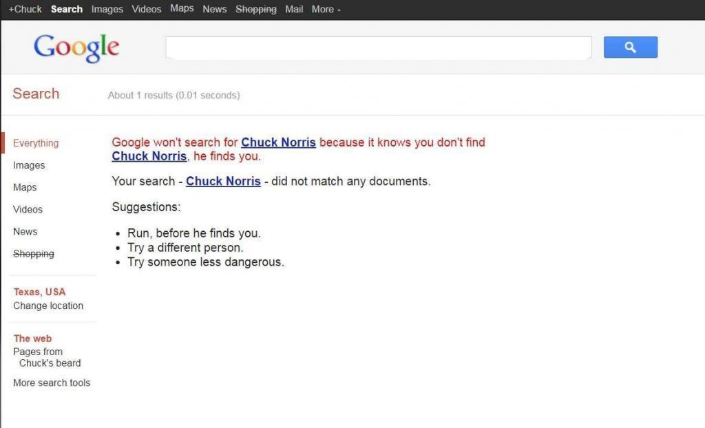 Google chuck norris