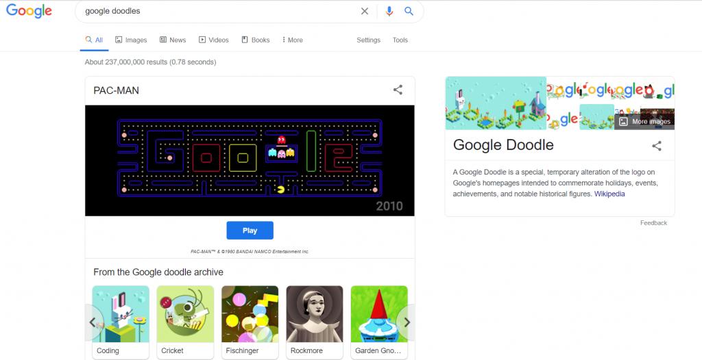 Google doodles easter eggs