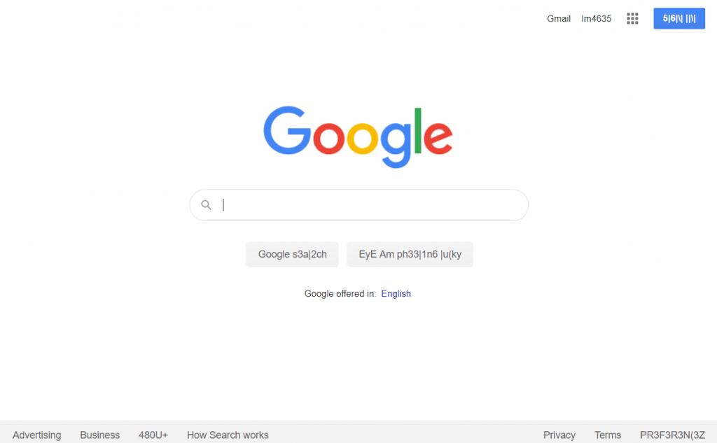 Hacker language Google easter egg