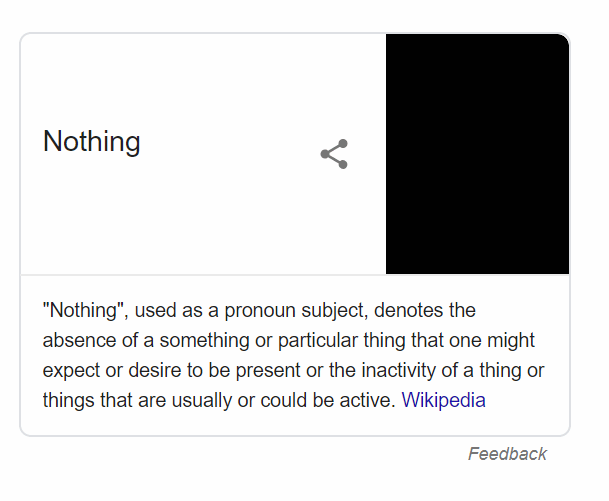 What is nothing