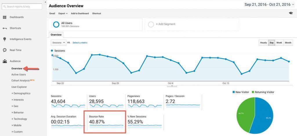 """Atmetimo rodiklis """"Google Analytics"""""""