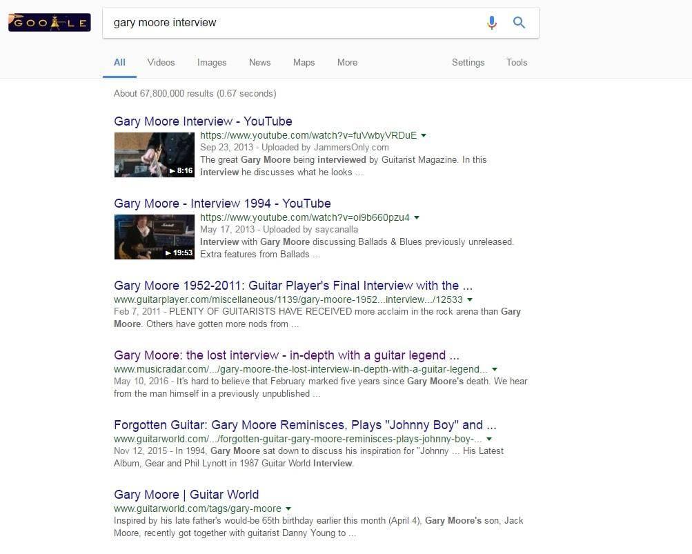 Konkretus puslapis Gary Moore