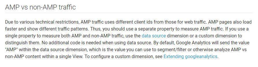 Analytics AMP vs Non-AMP