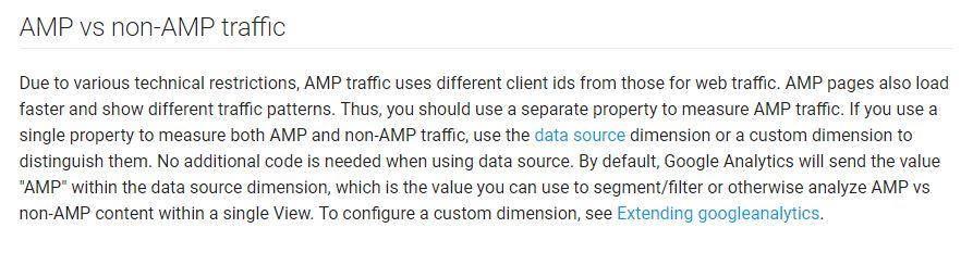 Analytics AMP vs Non-AMP