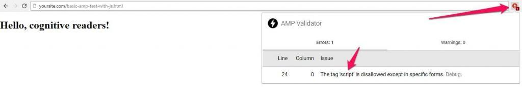 Invalid AMP