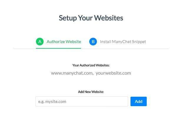 add manychat to site