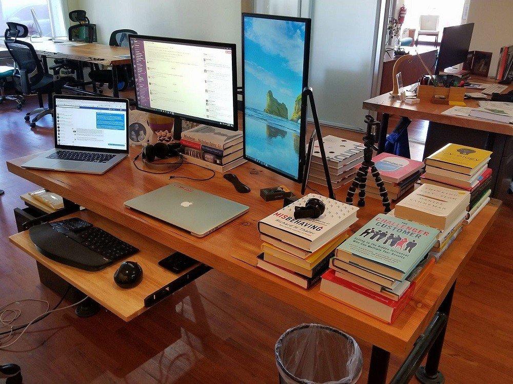 Aaron Orendorff's work desk