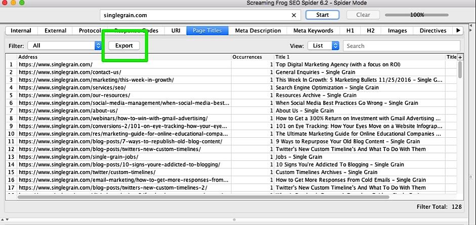 Organize URLs