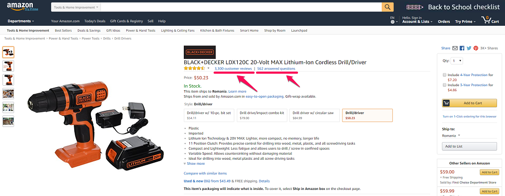 Screenshot Amazon Reviews