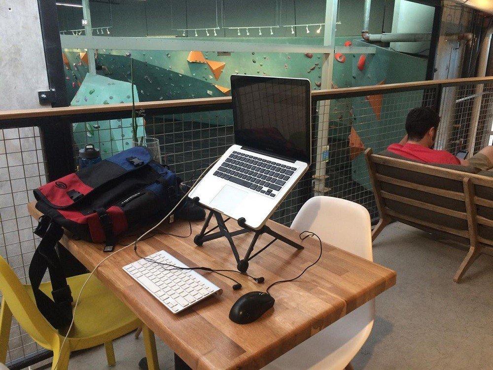 Benjamin Beck's work desk