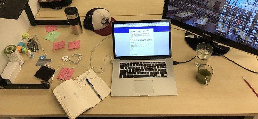 Ty Magnin's work desk