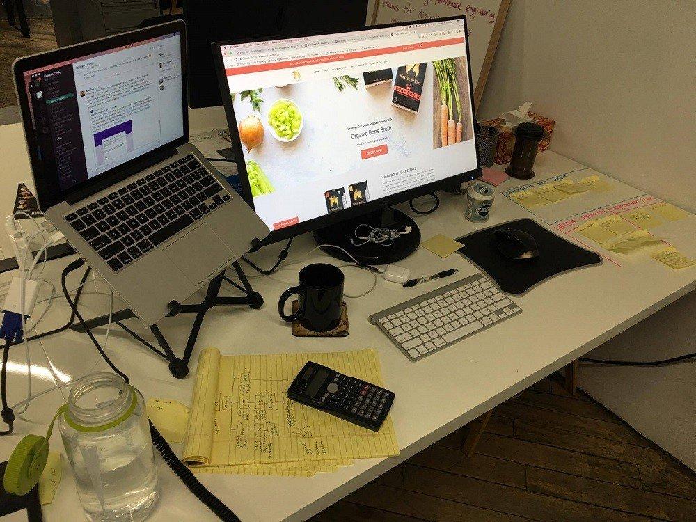 Wilson Hung's work desk