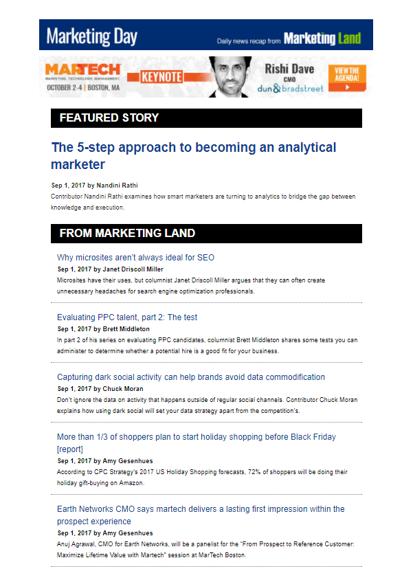 Marketing Land newsletter