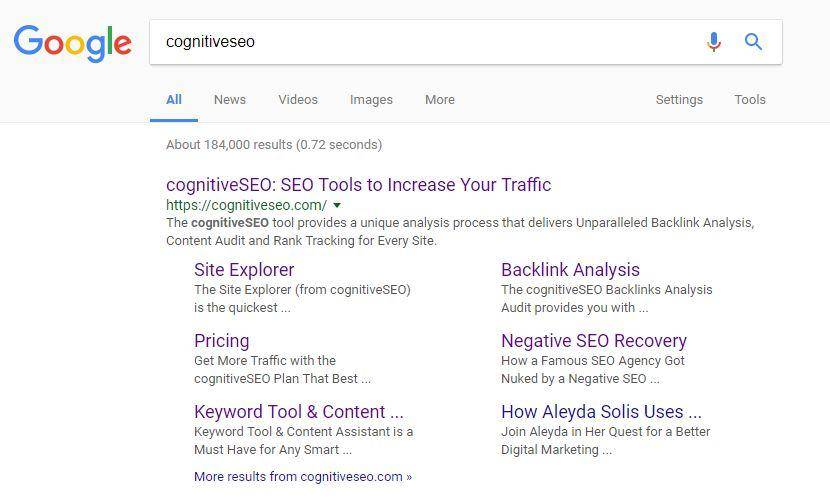google sitelinks seo