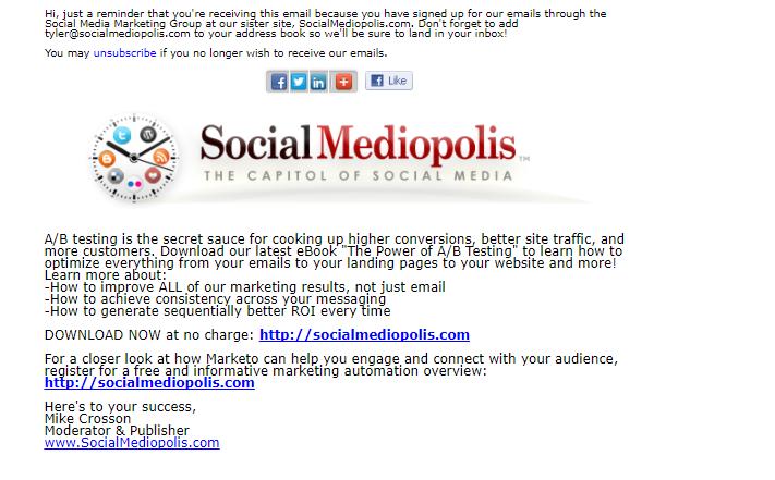 Social Mediopolis newsletter