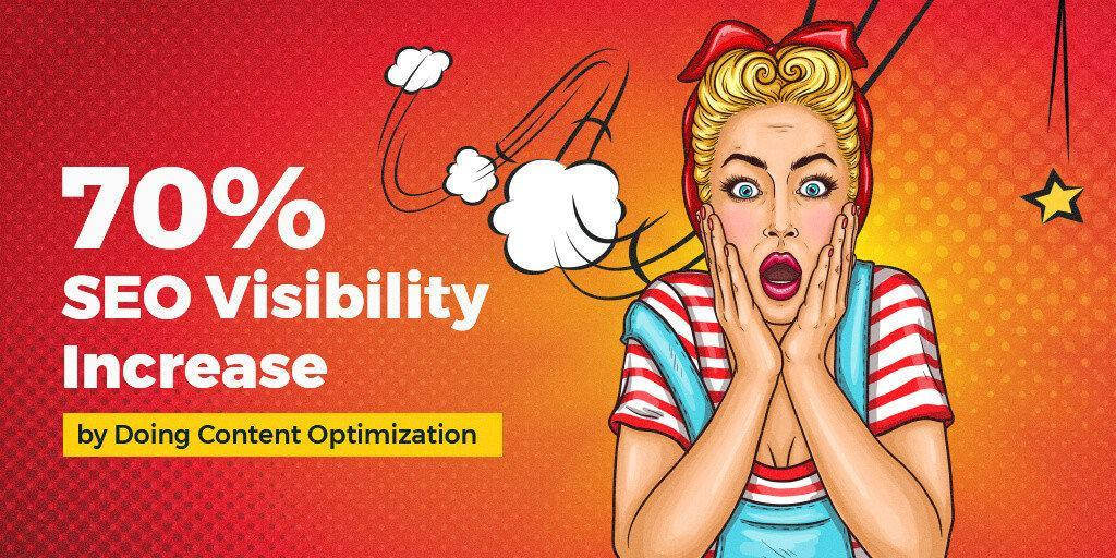 70% SEO Visibility Increase by Improving the Content Performance Score