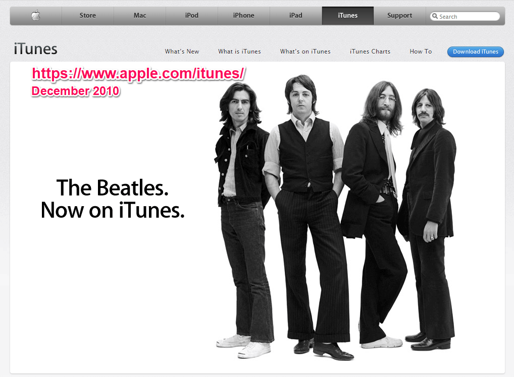 Apple itunes december 2010