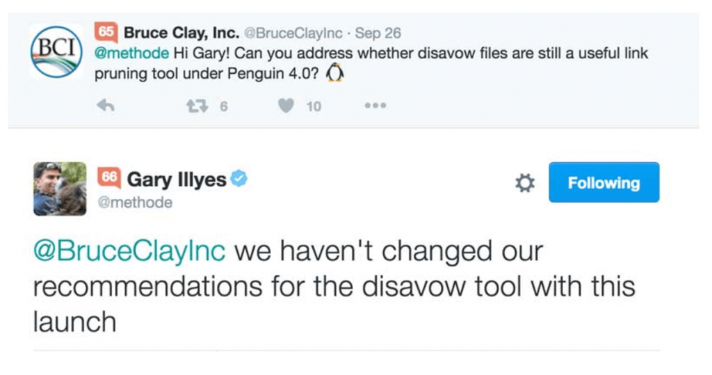 Gary Illyes disavow tool
