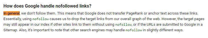 google isn't very clear when talking about ranking factors