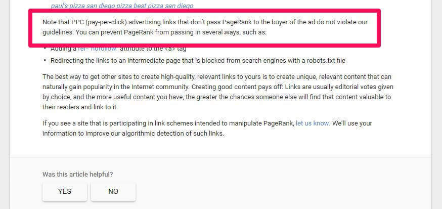 ppc or all paid links nofollow?