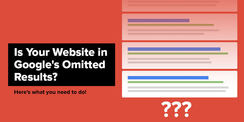 Is Your Website in Google Omitted Results