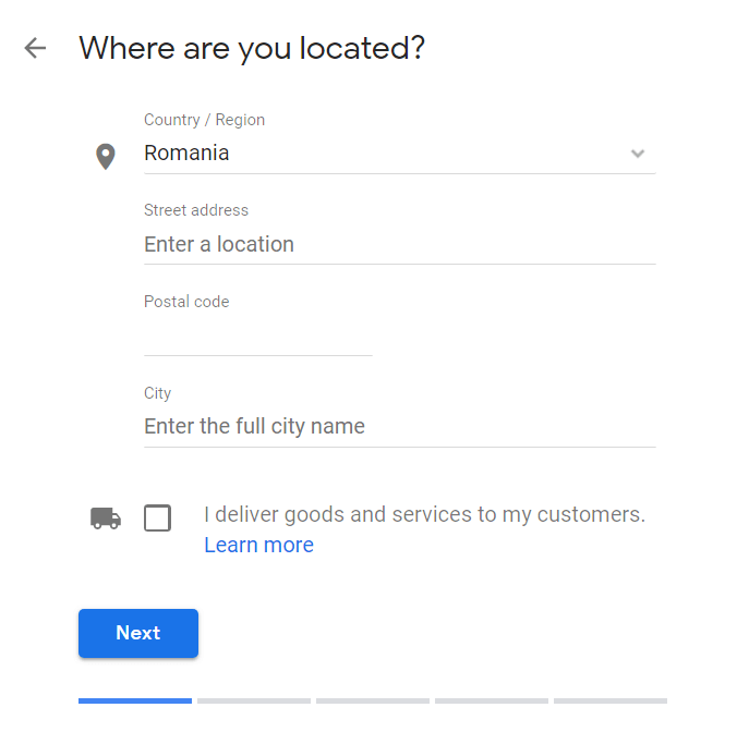 create google my business local