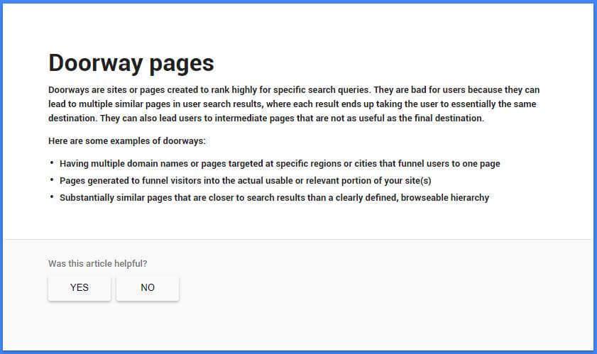 """""""Google"""" pateiktas durų puslapių apibrėžimas"""