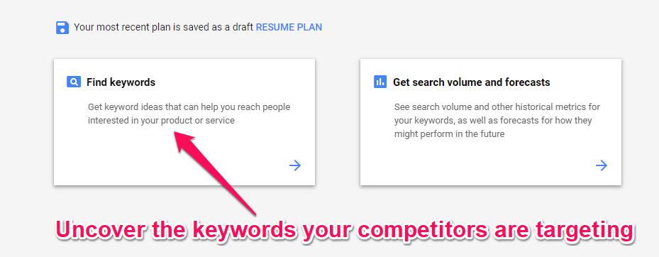 New Keyword Planner