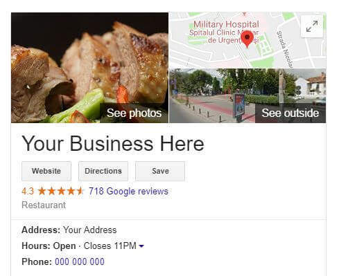 Google MyBusiness Maps Listing for SEO