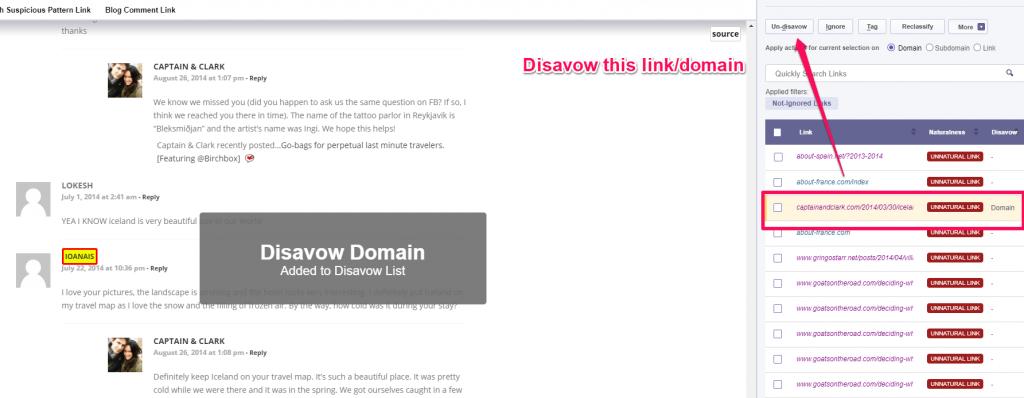Disavow domain