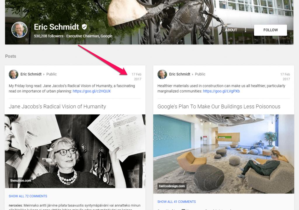 Eric Schmidt Google +